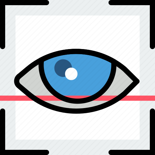 protect, recognition, retina, safety, security icon