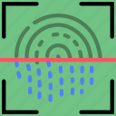 fingeprint, protect, safety, scan, security icon
