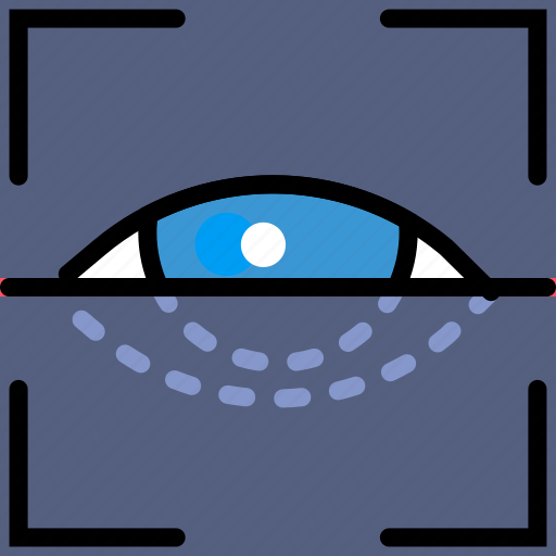 protect, retina, safety, scan, security icon