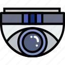 camera, dome, protect, safety, security icon