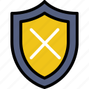 protect, safety, security, system, unprotected icon