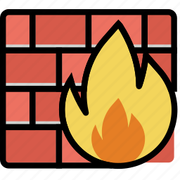 firewall, protect, safety, security icon