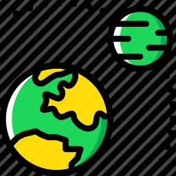 astronomy, orbit, planet, space icon