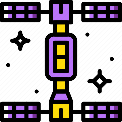 astronomy, space, station icon