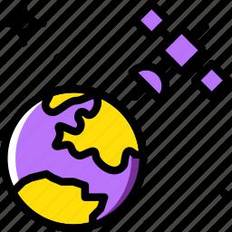 astronomy, orbit, satellite, space icon