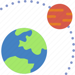 astronomy, orbit, planet, space icon