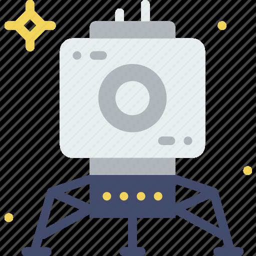astronomy, moon, rover, space icon