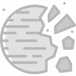 astronomy, destroyed, planet, space icon