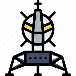 astronomy, lander, space icon