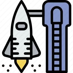 astronomy, liftoff, space icon