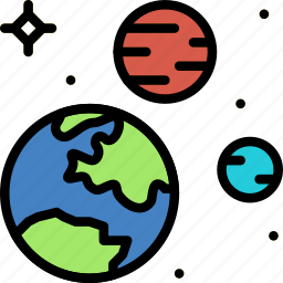 astronomy, space, system icon