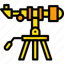astronomy, space, telescope icon