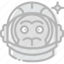 astronaut, cosmos, monkey, space, universe icon