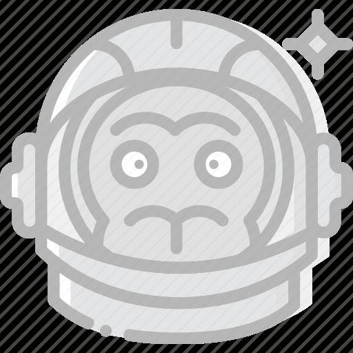astronaut, cosmos, monkey, space, universe icon