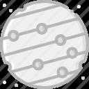 cosmos, mercury, space, universe icon
