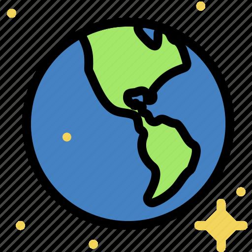 cosmos, earth, space, universe icon
