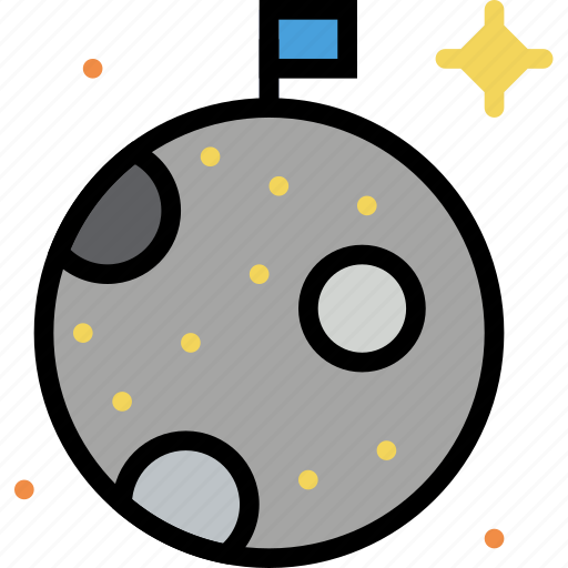 cosmos, moon, space, universe icon