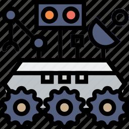 cosmos, curiosity, rover, space, universe icon