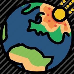 cosmos, impact, meteorite, space, universe icon