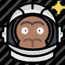 universe, cosmos, astronaut, monkey, space
