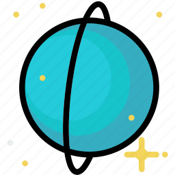 cosmos, space, universe, uranus icon