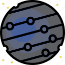 cosmos, mercury, space, universe icon
