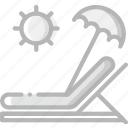 journey, sunbed, travel, voyage icon