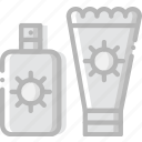 journey, lotion, sun, travel, voyage icon