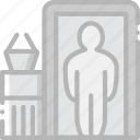 airport, check, in, journey, travel, voyage icon