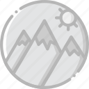 journey, mountainside, travel, voyage icon