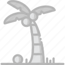 journey, palm, travel, voyage icon