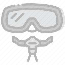 journey, mask, scuba, travel, voyage icon