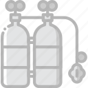 journey, oxygen, tanks, travel, voyage icon