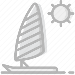 journey, parasailing, travel, voyage icon