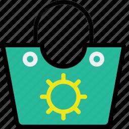bag, beach, journey, travel, voyage icon
