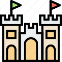 castle, journey, sand, travel, voyage icon
