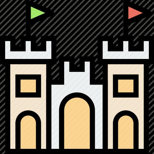 castle, journey, sand, travel, voyage icon