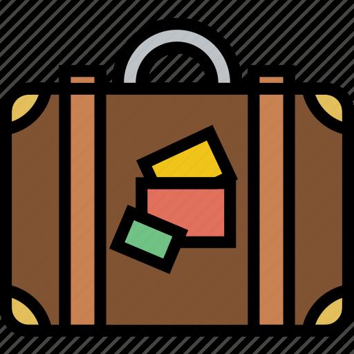 journey, luggage, travel, voyage icon