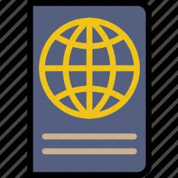 journey, passport, travel, voyage icon
