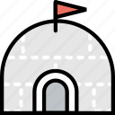 igloo, journey, travel, voyage icon