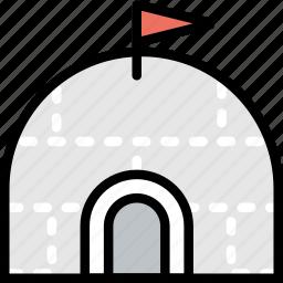 igloo, journey, travel, voyage icon