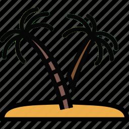 exotic, island, journey, travel, voyage icon