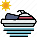 journey, skijet, travel, voyage icon