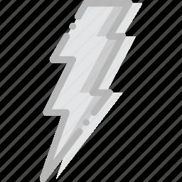 climate, forecast, lightning, precipitation, weather icon