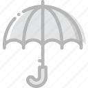 climate, forecast, precipitation, umbrella, weather icon
