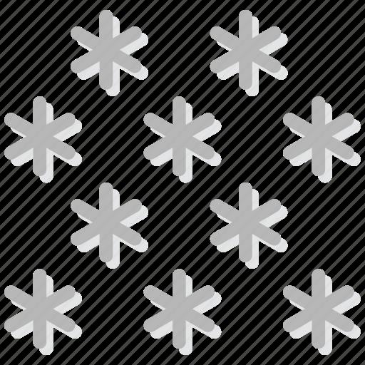 climate, forecast, precipitation, snow, weather icon