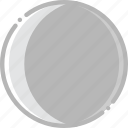 climate, crescent, forecast, moon, precipitation, waning, weather icon