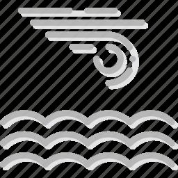 calm, climate, forecast, precipitation, sea, weather icon