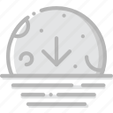 climate, descending, forecast, moon, precipitation, weather icon