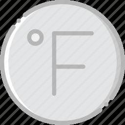 climate, fahrenheit, forecast, precipitation, weather icon